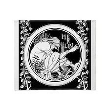 Merlin Art Nouveau fantasy Throw Blanket