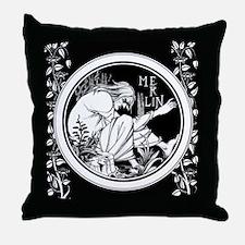Merlin Art Nouveau fantasy Throw Pillow