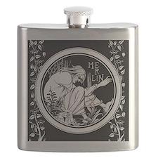 Merlin Art Nouveau fantasy Flask