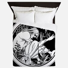 Merlin Art Nouveau fantasy Queen Duvet