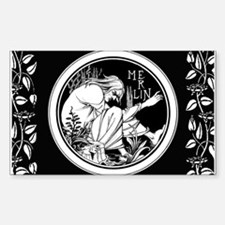 Merlin Art Nouveau fantasy Decal