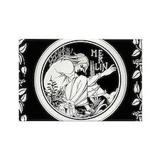 Merlin Art Nouveau fantasy Magnets