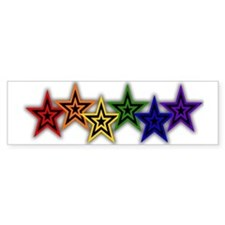 Gay Stars Bumper Bumper Sticker