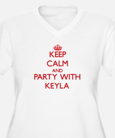 Keep Calm and Party with Keyla Plus Size T-Shirt