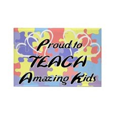 Proud to Teach Kids Rectangle Magnet