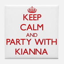 Keep Calm and Party with Kianna Tile Coaster