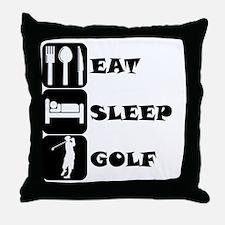 Eat Sleep Golf Throw Pillow