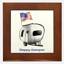 Happy Camper USA Framed Tile