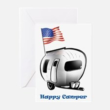 Happy Camper USA Greeting Cards (Pk of 10)
