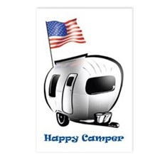 Happy Camper USA Postcards (Package of 8)