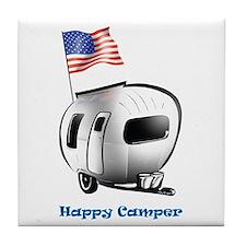 Happy Camper USA Tile Coaster