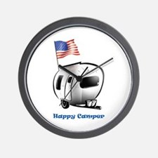 Happy Camper USA Wall Clock