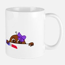 Girl Baby Peeking (Dark Skin) Mug