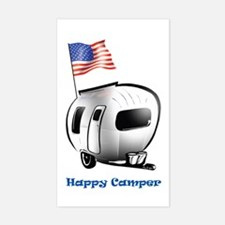 Happer Camper Rectangle Decal