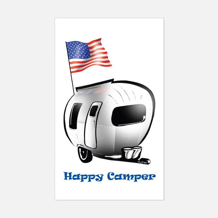 Happer Camper Rectangle Decal