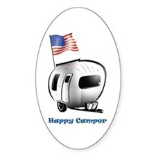 Happer Camper Oval Decal