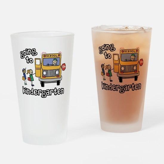 Going to Kindergarten Drinking Glass