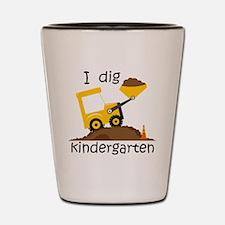 I Dig Kindergarten Shot Glass