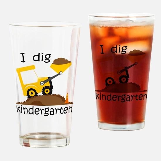 I Dig Kindergarten Drinking Glass