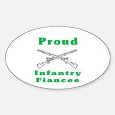 infrantry fiancee Oval Decal