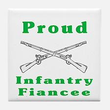 infrantry fiancee Tile Coaster