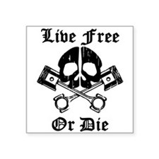 Live Free Or Die Gear Skull Sticker
