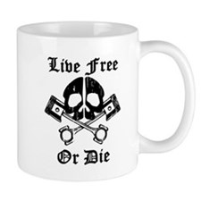Live Free Or Die Gear Skull Mugs