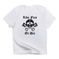 Live Free Or Die Gear Skull Infant T-Shirt