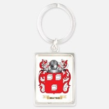 Mateo Coat of Arms - Family Cres Portrait Keychain