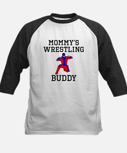 Mommys Wrestling Buddy Baseball Jersey