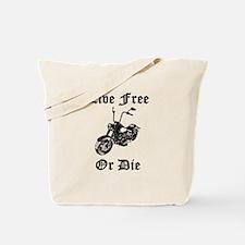 Live Free Or Die Motorcycle Tote Bag