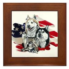America flag Husky Framed Tile