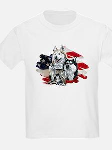 America flag Husky T-Shirt