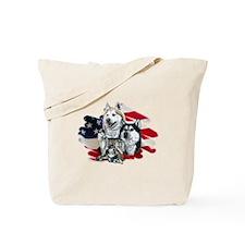 America flag Husky Tote Bag