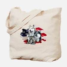 America flag Husky Tote Bag