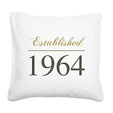 Established 1964 Square Canvas Pillow