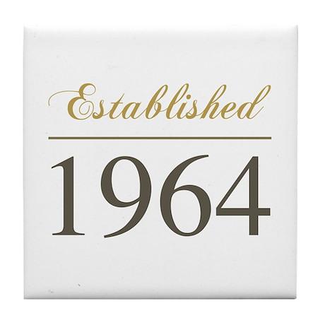 Established 1964 Tile Coaster
