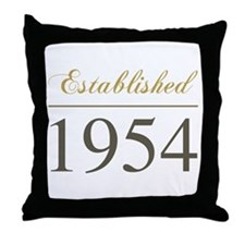 Established 1954 Throw Pillow