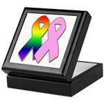 Rainbow & Pink Ribbons Keepsake Box