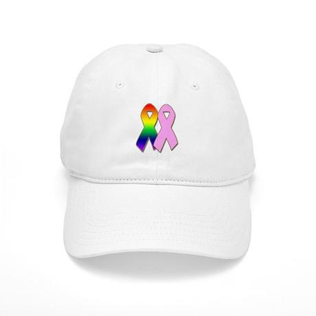Rainbow & Pink Ribbons Cap