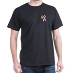 Rainbow & Pink Ribbons Dark T-Shirt