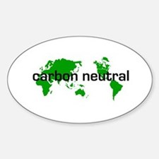 Carbon Neutral Oval Decal