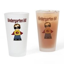 Kindergarten Kid Drinking Glass