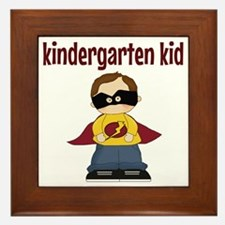 Kindergarten Kid Framed Tile