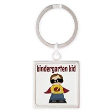 Kindergarten Kid Square Keychain