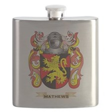 Mathews Coat of Arms - Family Crest Flask