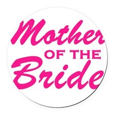 Mother of the Bride Round Car Magnet