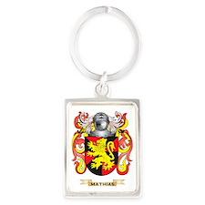 Mathias Coat of Arms - Family Cr Portrait Keychain