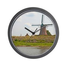 windmill 50x60 blanket-2 Wall Clock