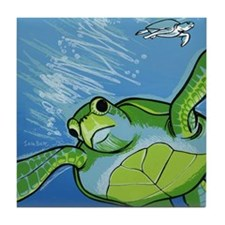 two sea turtles Tile Coaster
